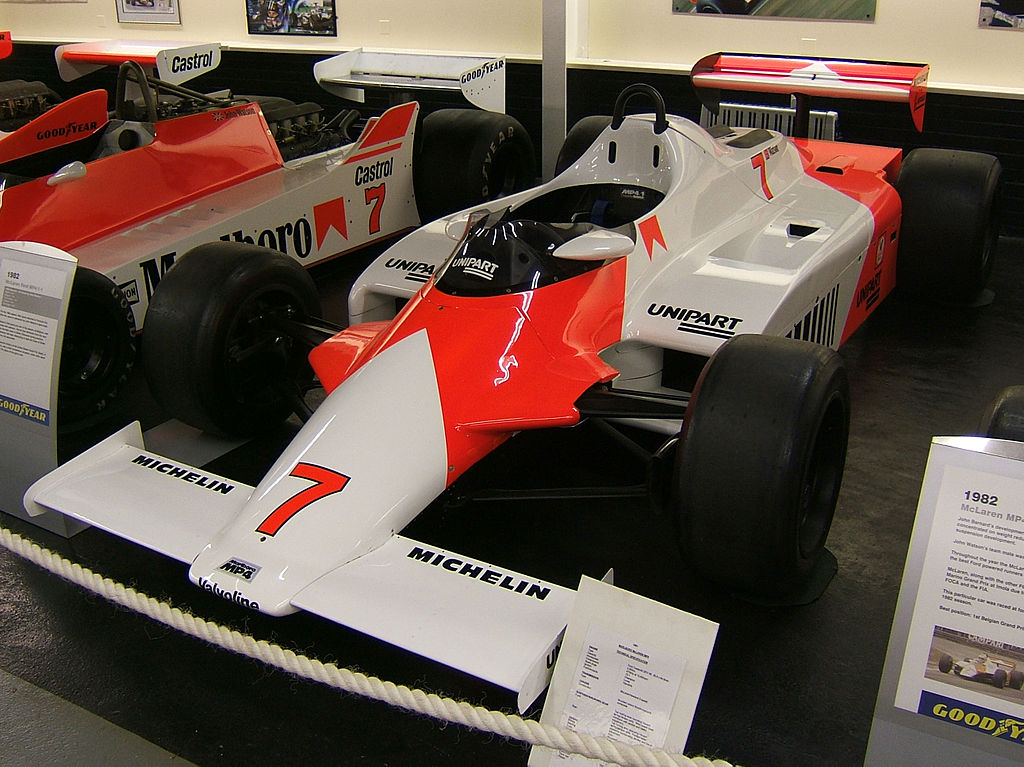 The McLaren MP4-1 Carbon Fibre Tub used in the 1982 Formula 1 World Championship Winning Car. Wilson Benesch use similar technology to form the A.C.T. Carbon Fibre Monocoque