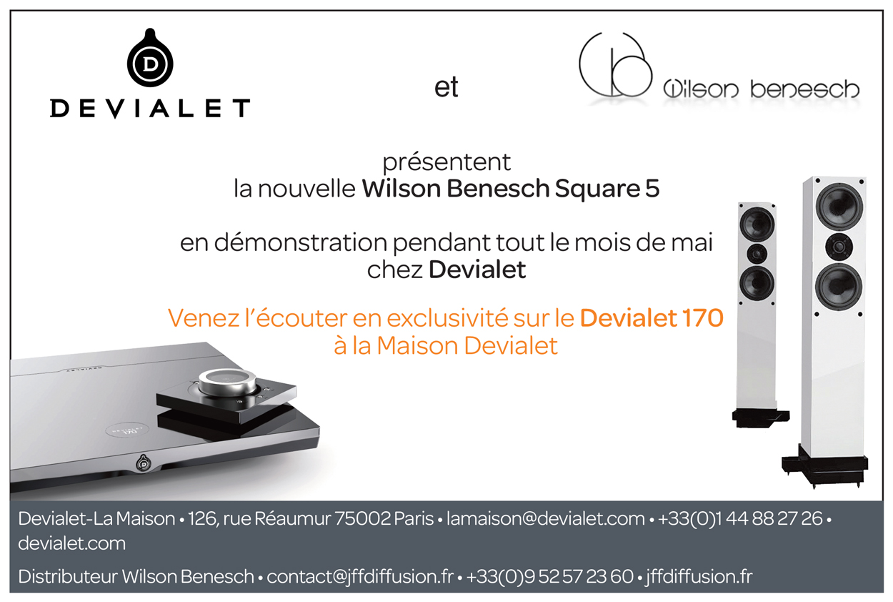 Wilson Benesch Square Five Loudspeaker partners with Devialet 170 for a month in residence in the Parisienne flagship store, Maison Devialet