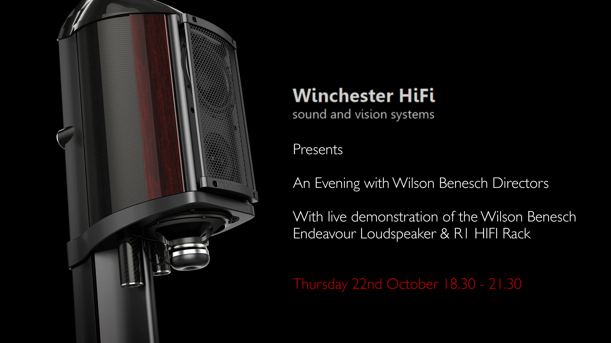Wilson Benesch - Loudspeaker - Carbon Fibre - Innovation - Geometry Series - Endeavour - R1 - HIFI - Rack