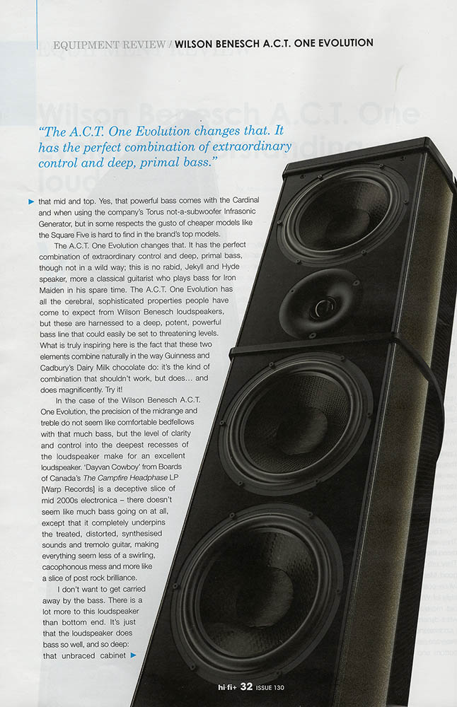 Alan Sircom - A.C.T. One Evolution - Loudspeaker - Carbon Fibre - British - Engineering - Innovation - HIFI- HIFI Plus