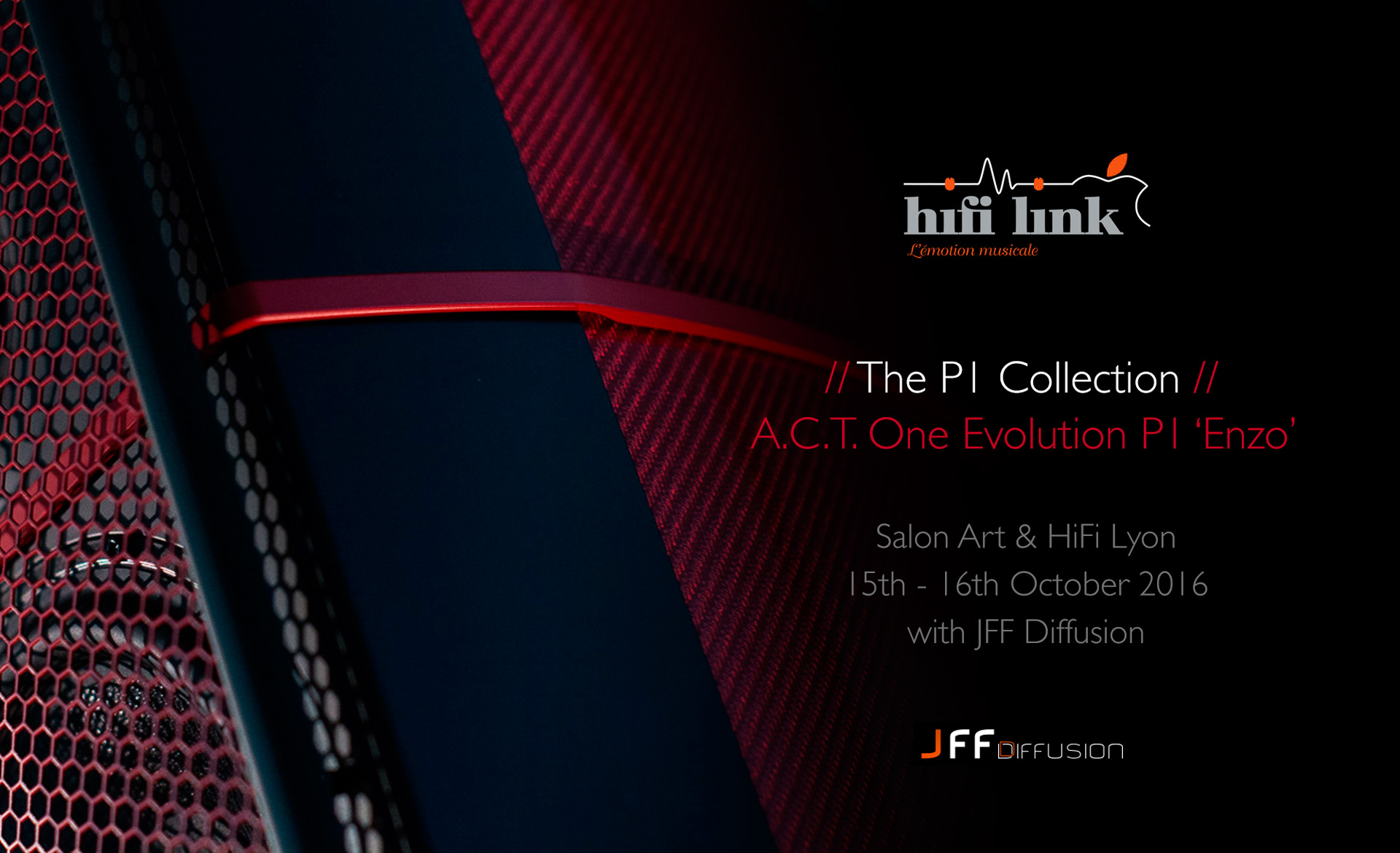 P1 collection tour salon art hifi lyon france for Salon lyon 2016