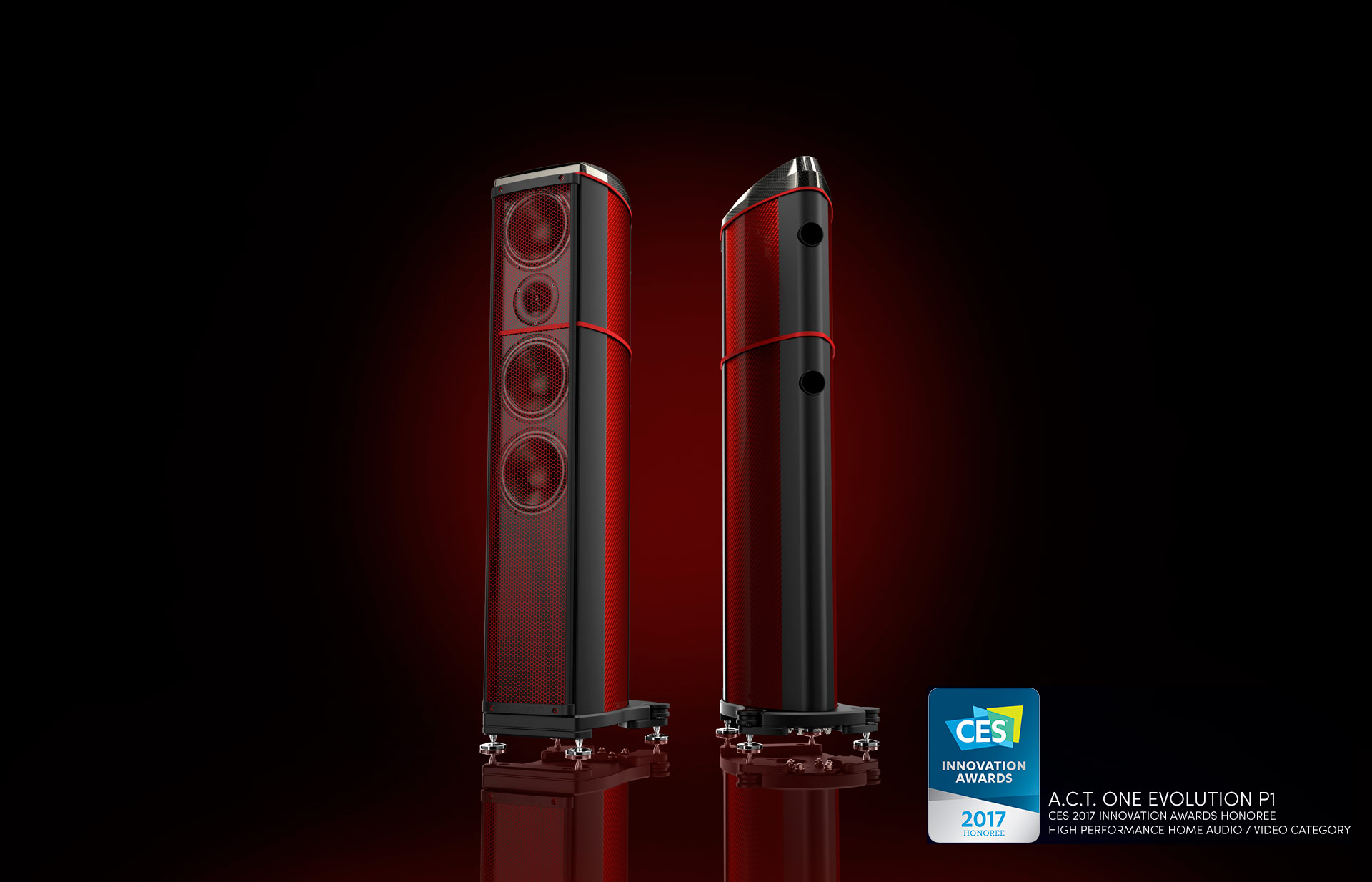 Andreas Wenderoth - A.C.T. One Evolution - Loudspeaker - Coloured - Carbon Fibre - British - Engineering - Innovation - Image Hifi