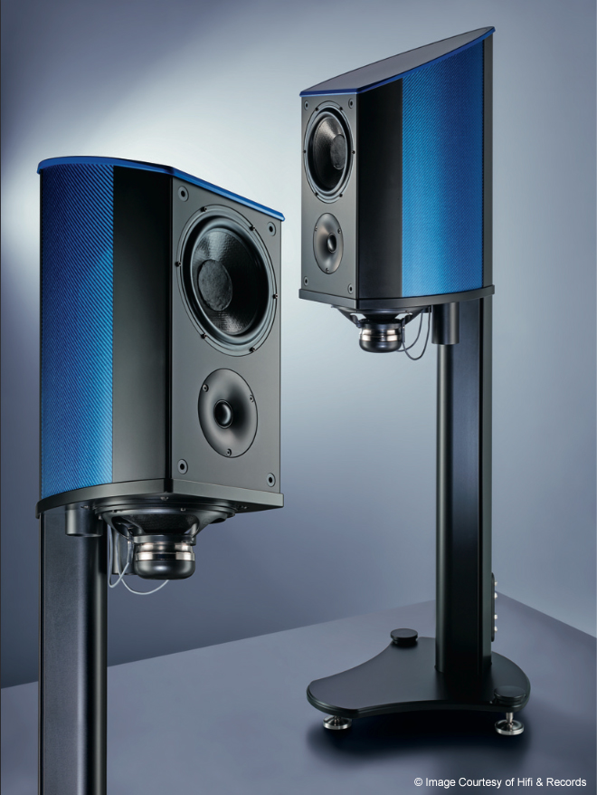 Wilfried Kress - Discovery II - Loudspeaker -  P1 - Coloured Carbon Fibre - British - Engineering - Innovation