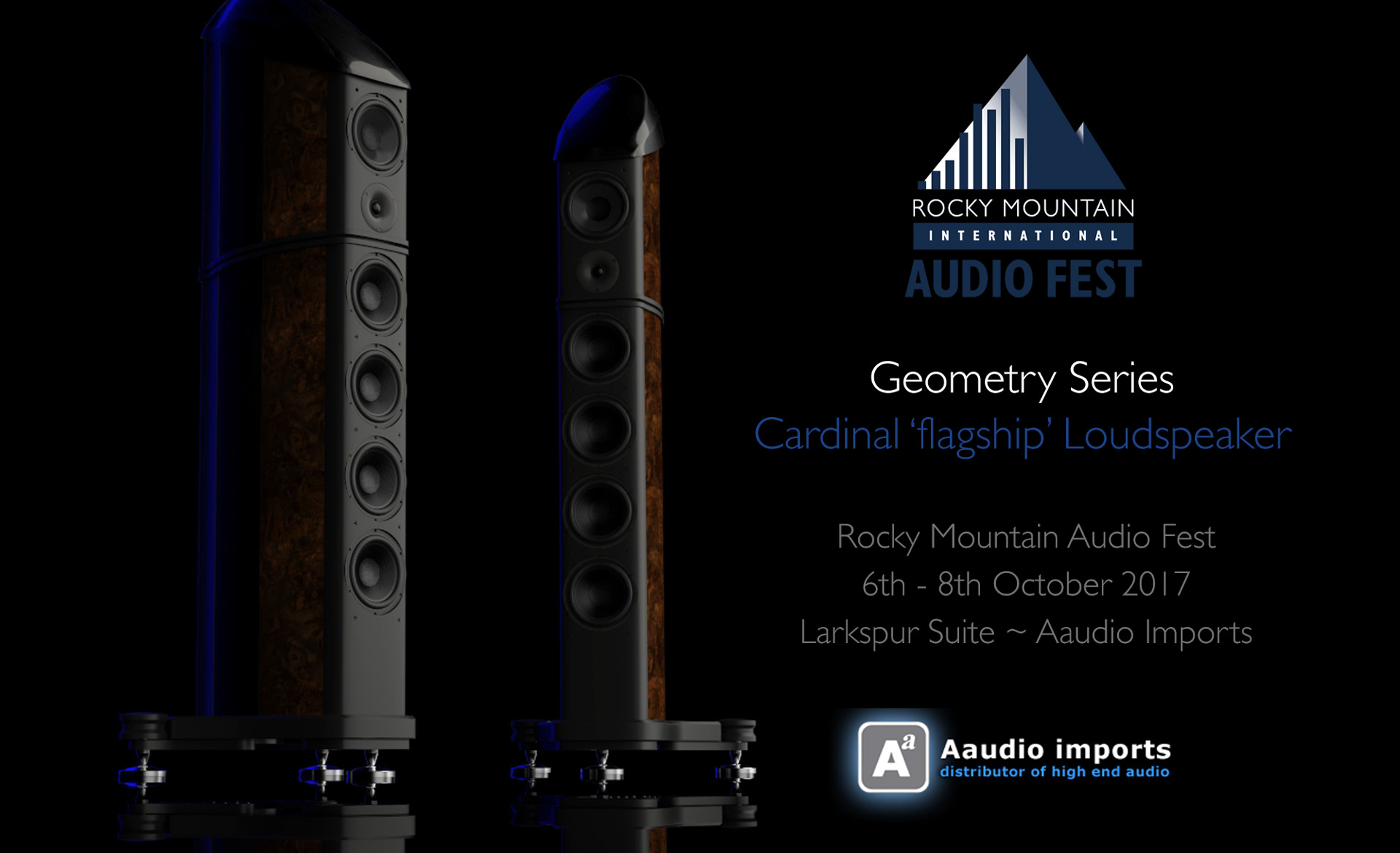 Geometry Series Cardinal Loudspeaker with Torus at Rocky Mountain Audio Fest 2017