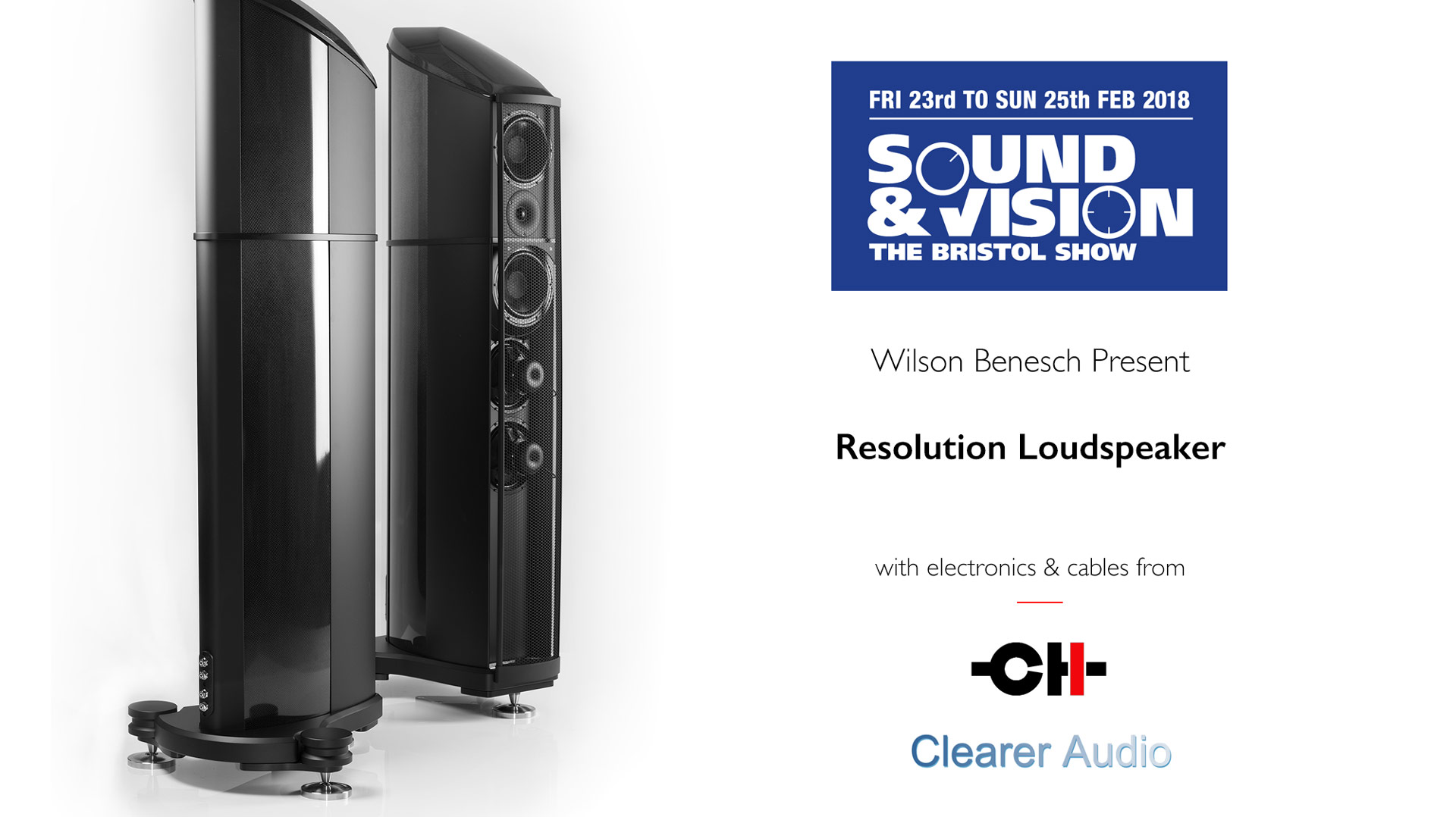 Wilson Benesch will demonstrate its Resolution floor standing loudspeaker for the first time in the U.K. at 'Sound & Vision' The Bristol Show