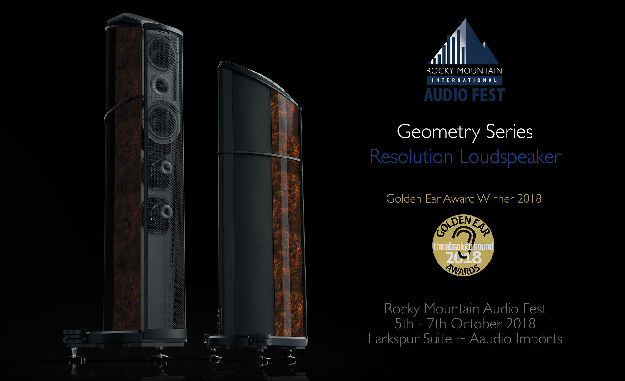 Wilson Benesch will demonstrate the Award Winning Resolution loudspeaker at the Rocky Mountain Audio Fest 2018